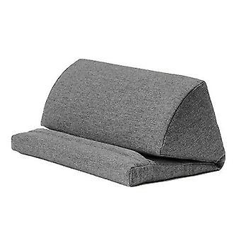 Pewter Wool Effect iPad Kindle Tablet Boek Stand Foam Pillow Lap Rest Cushion