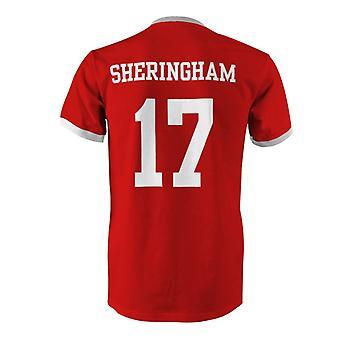 Teddy Sheringham 17 Englanti maan Ringer t-paita