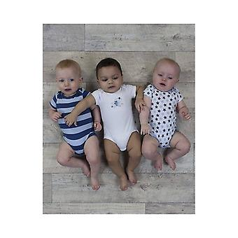 The Essential One Baby Boys Star Stripe Bodysuits - 3 Pack