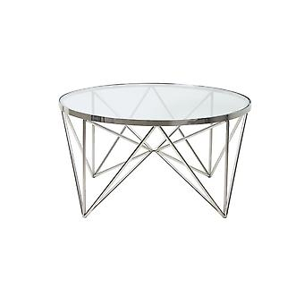 Light & Living Coffee Table 80x43cm Bogota Nickel With Glass