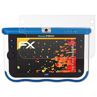 atFoliX γυαλί προστατευτικό συμβατό με VTech Storio max 7 γυαλί προστατευτική ταινία 5H υβριδικό-γυαλί