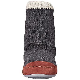 Żołądź Męski&Apos;s Slouch Boot Slipper, Charcoal Ragg Wool, Medium /, Szary, Rozmiar Medium