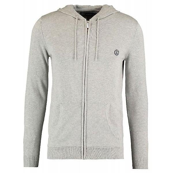Henri Lloyd Jumper Full Zip Hooded Knit Faray Mens Grey