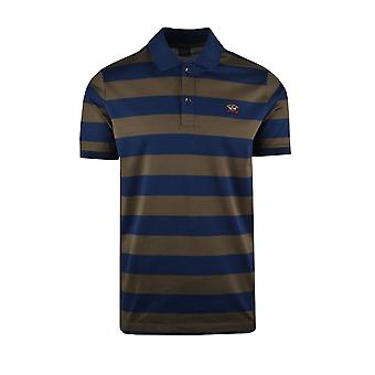 Paul & Shark Paul And Shark Polo Shirt Blue & Dark Green Stripe