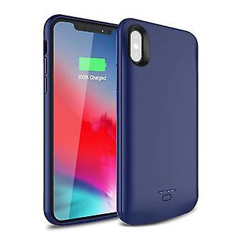 Stuff Certified® iPhone XS Max 5000mAh ohut teho tapauksessa power bank laturi akku kansi kotelo kansi sininen