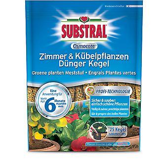 SUBSTRAL® Osmocote Zimmer & Kübelpflanzen Dünger Kegel, 25 Stück