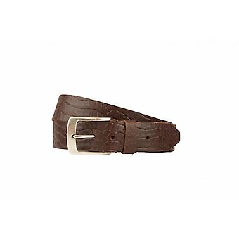 Tough Brown Belt With Croco Structure