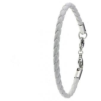 Weiße Lederfassade auf Armband für Perlen Charms von SC Crystal SB064-BLANC