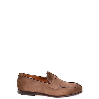 Doucal's Ezbc089041 Men's Brown Suede Loafers