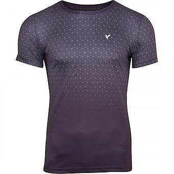 D Rock Mens D Rock Geometric 3D Print Gradual Fade Short Sleeved Summer T Shirt