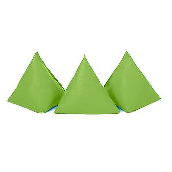 Gardenista� | Pack of 5 | Durable Cotton Fabric | Triangular Shaped | Juggling Throw Bean Bags | Garden Games | PE and Sports | Indoors and Outdoors | Lime