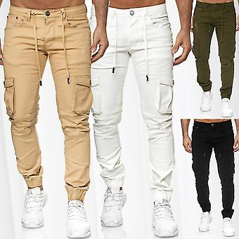 Men's trousers Cargo jogger stretch waistband leisure military casual