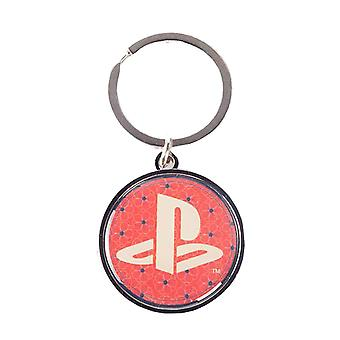 Playstation Keyring Keychain Classic Logo Biker new Official Black Metal