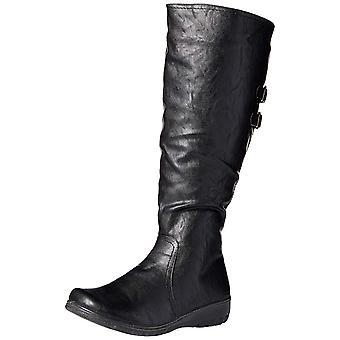 Easy Street Womens Tess Plus Leather Closed Toe Knee High Fashion Boots