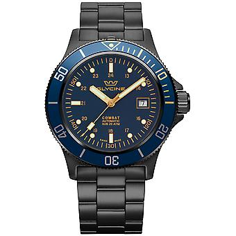 Combat Analog Men's Automatic Watch with GL0295 Stainless Steel Bracelet
