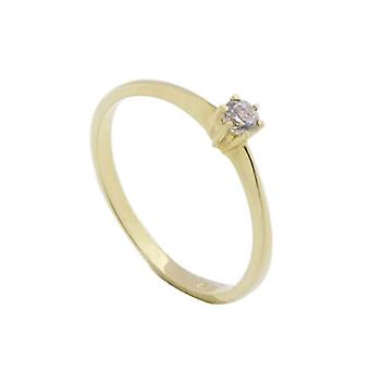 14 carat bicolor gold ring
