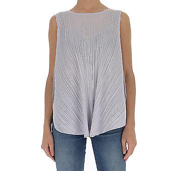 Issey Miyake Pleats Please Pp06jk56106 Women's Grey Polyester Top