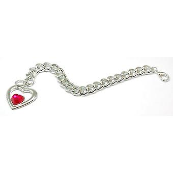 Die Olivia Collection Silvertone Open Heart 7.5