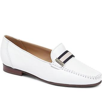 Jones 24-7 Womens Catherine Leather Penny Loafer