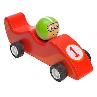 Ziehen Sie zurück Rennen Auto Holz