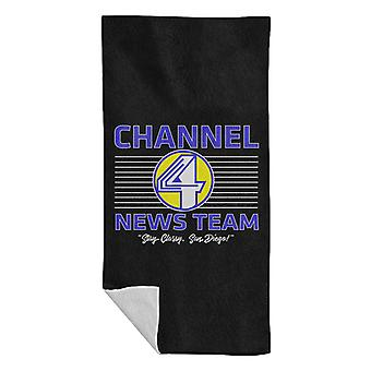 Anchorman Channel 4 Nyheter Team Logo Beach Handduk