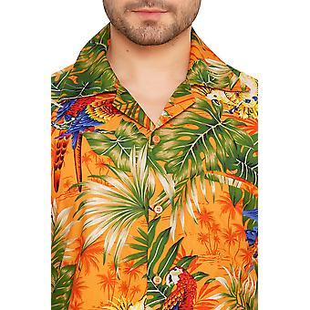 Club cubana men's regular fit classic short sleeve casual shirt cdkupb627