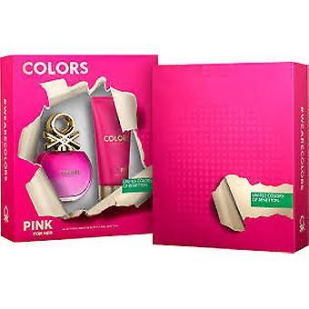 Benetton Colors de Benetton Pink Gift Set 80ml EDT + 75ml Body Lotion