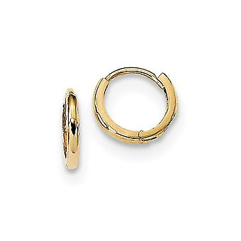 14k Madi K Polished Hinged Hoop Earrings Measures 9.5x10mm Wide 1.4mm Thick Jewelry Gifts for Women