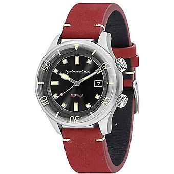 Watch Spinnaker SP-5057-01 - Bradner Bracelet leather red man black dial steel case