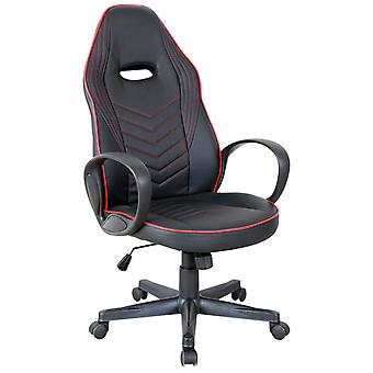 Vinsetto Executive w/ Wheels PU Leather Rocking Office/ Gaming Chair Adjustable Padded Seat Red