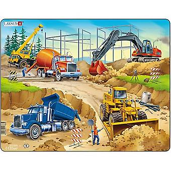 Larsen Jigsaw Puzzle - Construction Site Puzzle, 30 Piece