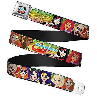 Barn&apos, DC Superhero Girls 9-Character Group Pose Säkerhetsbälte Buckle Belt: 20-36""