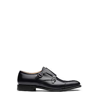 Church's Eob0159xvf0aab Men's Black Leather Monk Strap Shoes