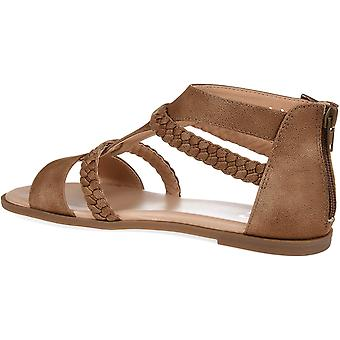 Brinley co comfort Womens T-Strap gevlochten sandaal