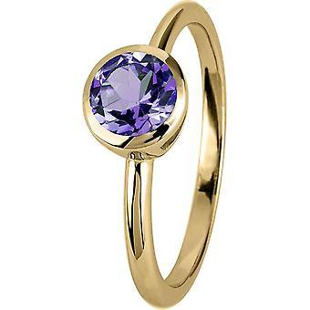 ז'אק למאן-טבעת כסף מצופה זהב עם אחלמה-SE-R101I54-RW: 54