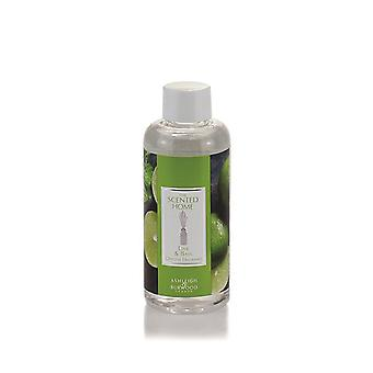 Ashleigh & Burwood Scented Home Reed Diffuser Refill Bottle 150ml Home Fragrance Lime & Basil