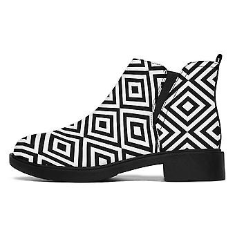 Bottes de créateur | Bottes de mode | Motif en noir et blanc