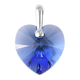 Heart Made with Swarovski Crystal Pendant for Women Sterling Silver, 6 Ct TJC