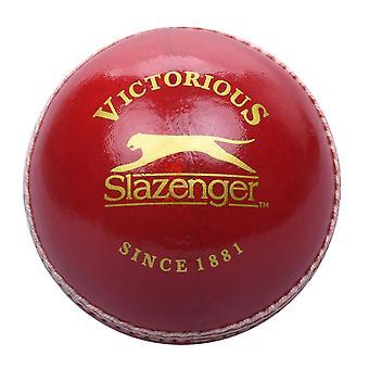 Slazenger Kids Elite Cricket Ball Alum Gelooid leer 4 delige lederen sport