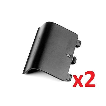 2x Black Battery Wireless Controller Back Cover Pack for Xbox One