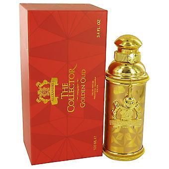 Golden Oud Eau De Parfum Spray By Alexandre J 3.4 oz Eau De Parfum Spray
