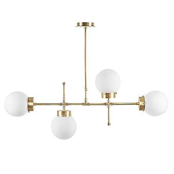 Whisper Color Brass Hängeleuchte, Metall weiß, Glas 98x15x80 cm