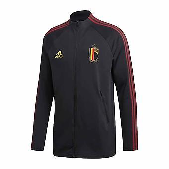2020-2021 Belgium Himnusz Kabát (Fekete)
