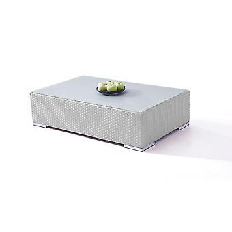 Polyrattan Cube table 125 cm - satiné gris