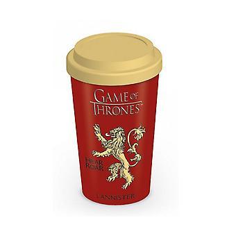 Game Of Thrones Travel Mug House Lannister emblem new Official ceramic