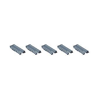 RudyTwos 5 x zamiennik dla urządzenia Brother TN2120 Toner czarny (ekstrawysokiej) zgodny z DCP-7030 DCP-7040, DCP-7045N, HL-2140 HL-2150, HL-2150N, HL-2170, HL-2170W, MFC-7320, MFC 7340, MFC-734