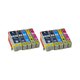 RudyTwos 2 x ersättning för Epson PolarBear ställa in bläck svart Cyan Magenta gul & foto svart kompatibel med Expression Premium XP-510, XP-520, XP-600, XP-605, XP-610, XP-615, XP-620, XP-625, XP-7
