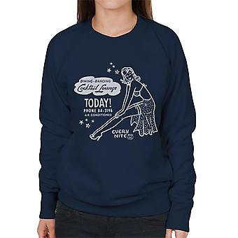 Route 66 diner dansen cocktail lounge vrouwen Sweatshirt