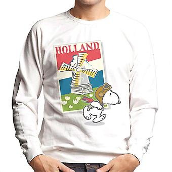 Peanuts Snoopy In Holland Men's Sweatshirt