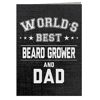 Worlds Best Beard Grower And Dad Greeting Card